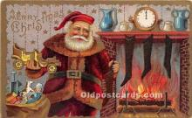 hol017576 - Santa Claus Postcard Old Vintage Christmas Post Card
