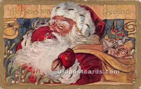 hol017578 - Santa Claus Postcard Old Vintage Christmas Post Card