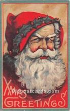 hol017579 - Santa Claus Postcard Old Vintage Christmas Post Card