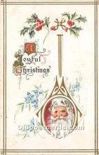 hol017582 - Santa Claus Postcard Old Vintage Christmas Post Card