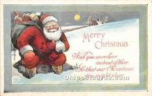 hol017584 - Santa Claus Postcard Old Vintage Christmas Post Card