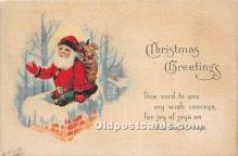 hol017586 - Santa Claus Postcard Old Vintage Christmas Post Card