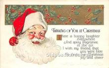 hol017587 - Santa Claus Postcard Old Vintage Christmas Post Card