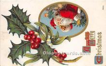hol017588 - Santa Claus Postcard Old Vintage Christmas Post Card