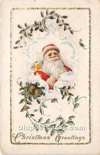 hol017591 - Santa Claus Postcard Old Vintage Christmas Post Card
