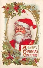 hol017592 - Santa Claus Postcard Old Vintage Christmas Post Card