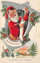 hol017593 - Santa Claus Postcard Old Vintage Christmas Post Card
