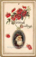 hol017594 - Santa Claus Postcard Old Vintage Christmas Post Card