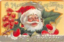 hol017596 - Santa Claus Postcard Old Vintage Christmas Post Card