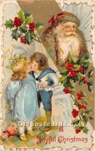 hol017598 - Santa Claus Postcard Old Vintage Christmas Post Card