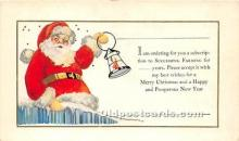 hol017600 - Santa Claus Postcard Old Vintage Christmas Post Card