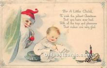 hol017602 - Santa Claus Postcard Old Vintage Christmas Post Card