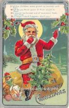 hol017603 - Santa Claus Postcard Old Vintage Christmas Post Card