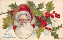 hol017604 - Santa Claus Postcard Old Vintage Christmas Post Card