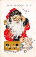 hol017605 - Santa Claus Postcard Old Vintage Christmas Post Card