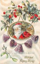 hol017607 - Santa Claus Postcard Old Vintage Christmas Post Card