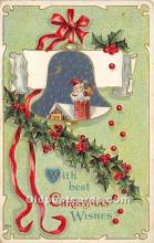 hol017609 - Santa Claus Postcard Old Vintage Christmas Post Card