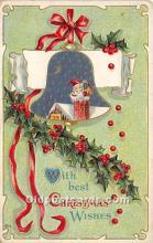 hol017609 - Santa Claus Postcard Old Vintage Christmas Post Card
