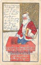 hol017612 - Santa Claus Postcard Old Vintage Christmas Post Card