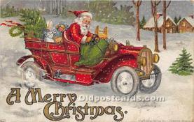 hol017613 - Santa Claus Postcard Old Vintage Christmas Post Card