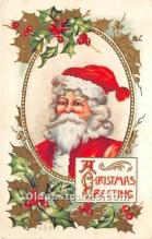 hol017615 - Santa Claus Postcard Old Vintage Christmas Post Card