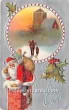 hol017617 - Santa Claus Postcard Old Vintage Christmas Post Card