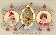 hol017622 - Santa Claus Postcard Old Vintage Christmas Post Card