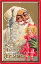hol017624 - Santa Claus Postcard Old Vintage Christmas Post Card