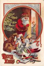 hol017625 - Santa Claus Postcard Old Vintage Christmas Post Card