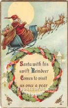 hol017627 - Santa Claus Postcard Old Vintage Christmas Post Card