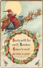 hol017627 - Santa Claus Postcard Old Vintage Christmas Post Card
