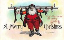 hol017630 - Santa Claus Postcard Old Vintage Christmas Post Card