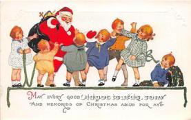 hol017631 - Santa Claus Postcard Old Vintage Christmas Post Card