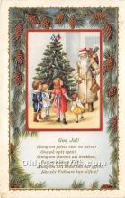 hol017634 - Santa Claus Postcard Old Vintage Christmas Post Card
