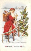 hol017636 - Santa Claus Postcard Old Vintage Christmas Post Card
