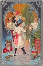 hol017640 - Santa Claus Postcard Old Vintage Christmas Post Card