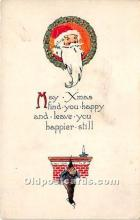 hol017642 - Santa Claus Postcard Old Vintage Christmas Post Card