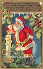 hol017646 - Santa Claus Postcard Old Vintage Christmas Post Card