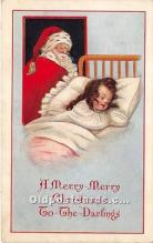 hol017647 - Santa Claus Postcard Old Vintage Christmas Post Card