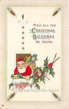 hol017649 - Santa Claus Postcard Old Vintage Christmas Post Card