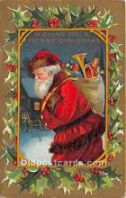 hol017651 - Santa Claus Postcard Old Vintage Christmas Post Card
