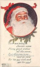 hol017658 - Santa Claus Postcard Old Vintage Christmas Post Card