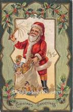 hol017659 - Santa Claus Postcard Old Vintage Christmas Post Card