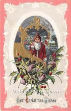 hol017660 - Santa Claus Postcard Old Vintage Christmas Post Card