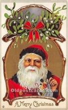 hol017661 - Santa Claus Postcard Old Vintage Christmas Post Card