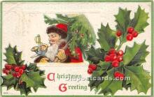 hol017662 - Santa Claus Postcard Old Vintage Christmas Post Card