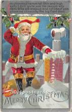 hol017663 - Santa Claus Postcard Old Vintage Christmas Post Card