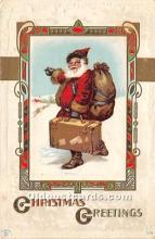 hol017664 - Santa Claus Postcard Old Vintage Christmas Post Card