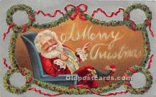 hol017665 - Santa Claus Postcard Old Vintage Christmas Post Card