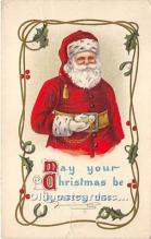 hol017668 - Santa Claus Postcard Old Vintage Christmas Post Card